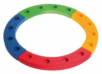 Drewniany Pierścień Urodzinowy, kolorowy, Grimm's - tęczowy