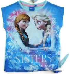 Koszulka frozen sisters are magic niebieska 4 lata