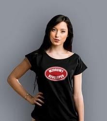 Wzorowy developer t-shirt damski czarny xxl
