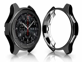 Etui silikonowe Alogy case do Samsung Gear S3 Watch 46 mm czarne - Czarny