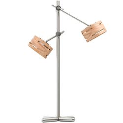 Lampka stołowa LED regulowane ramiona i drewniane obudowy RegenBogen Megapolis 725030502