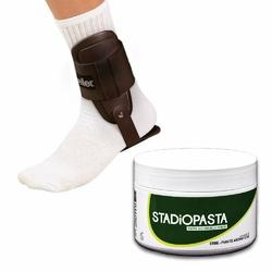 Stadiopasta - maść lecznicza na kontuzje 250 ml + Stabilizator Stawu Skokowego Kostki Mueller Lite
