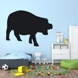 Naklejka tablicowa dla dzieci hipopotam 1tk80