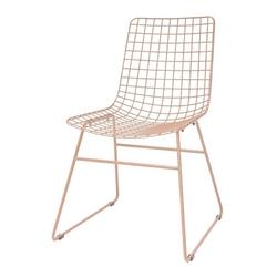 Hkliving krzesło metalowe wire brzoskwiniowe mzm4791