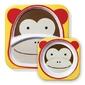 Zestaw naczyń skip hop zoo - talerz i miseczka - małpka