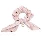 Gumka frotka do włosów scrunchies różowa kwiaty