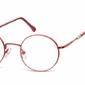 Lenonki okrągłe okulary oprawki optyczne 926f czerwone