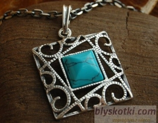 Laruna - srebrny wisiorek z turkusem