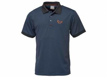 Koszulka Savage Gear Simply Savage 3-Stripes Polo L