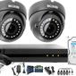 Monitoring po skrętce bcs basic full hd 2mpx 1tb h265+ 2 x kamera kopułkowa 2.8-12mm ir 40m