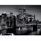 Brooklyn Bridge - Black and white - reprodukcja