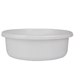 Miska na pranie  łazienkowa plastikowa okrągła bentom classic biała 13,5 l