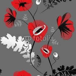 Naklejka samoprzylepna wzór z kwiatami maku