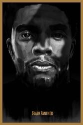Czarna pantera - plakat premium wymiar do wyboru: 21x29,7 cm