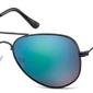 Niebiesko zielone pilotki okulary lustrzane aviator ms94a
