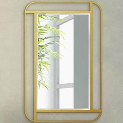 Nowoczesne lustro moris z ramą w kolorze złotym