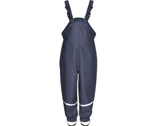 Spodnie przeciwdeszczowe granatowe z polarem Playshoes