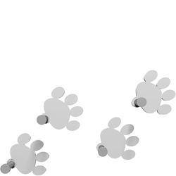 Wieszaki ścienne Cat Footprint CalleaDesign białe 53-13-2-1
