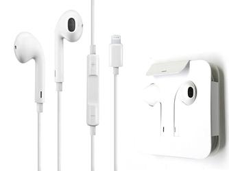 Słuchawki apple earpods mmtn2zma ze złączem lightning białe