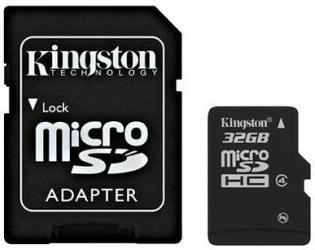 Kingston microSDHC 32GB class 4 + adapter
