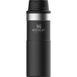 Duży kubek termiczny z przyciskiem One Push Stanley Trigger Classic czarny 0,47L 10-06439-031