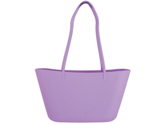 Fioletowa torebka plażowa silikonowa