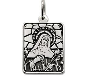 Medalik prostokątny srebrny z wizerunkiem św. rity med-rita-02