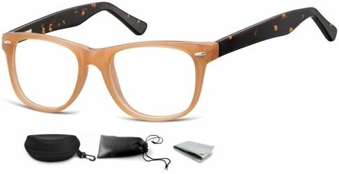 Oprawki zerówki korekcyjne nerdy flex sunoptic ac15f brązowe + panterka