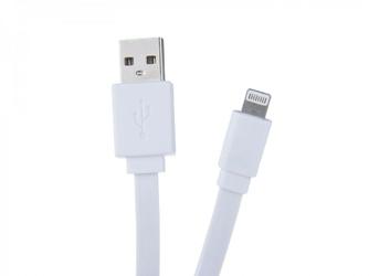 Kabel usb 2.0, usb a m- apple lightning m, 1.2m, płaski, biały, avacom, box, 120 cm, biały