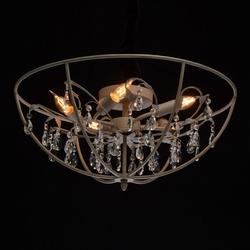 Lampa sufitowa w stylu loft wykończona kryształami regenbogen 104012005