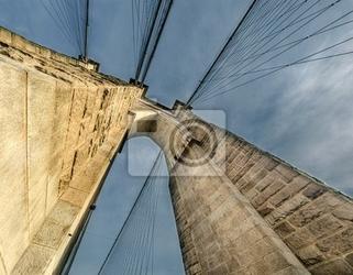 Fototapeta nowy jork. wspaniały widok potężnego most brookliński fa