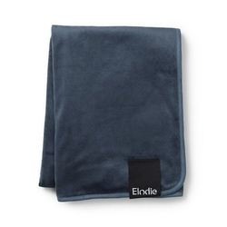 Elodie details - kocyk pearl velvet - juniper blue - juniper blue