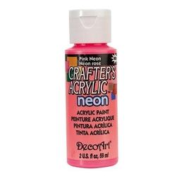 Farba akrylowa Crafters Acrylic 59 ml - różowy neonowy - RÓŻNEO