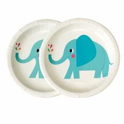 Talerzyki papierowe 8 szt., Słoń Elvis, Rex London - słoń elvis