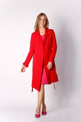 Czerwony Płaszcz z Długim Rękawem