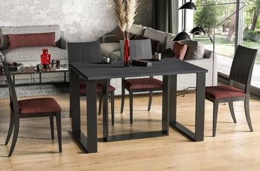 Nowoczesny rozkładany stół borys na metalowych nogach 130-250 x 80 cm ciemny beton