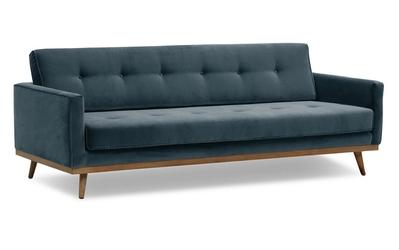 Sofa klematisar z funkcją spania welurowa 3-osobowa  welur bawełna 100 szary