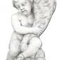 Figura ogrodowa z betonu dziecko róg obfitości