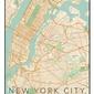 Nowy jork mapa kolorowa - plakat wymiar do wyboru: 60x80 cm