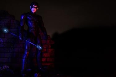 Batman arkham city - nightwing - plakat wymiar do wyboru: 100x70 cm