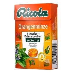 Ricola box cukierki pomarańczowo-miętowe bez cukru