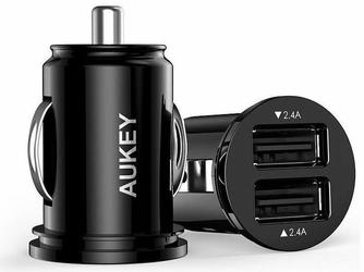 Ładowarka samochodowa AUKEY CC-S1+ Kabel USB-C 1M CB-CD2 Black