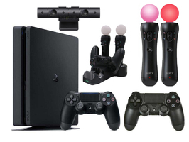 Konsola Sony PS4 1TB Slim + 2 Pady + Ładowarka + Kamera + 2 Move