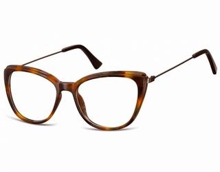 Okulary oprawki zerówki korekcyjne kocie oczy sunoptic ac8e bursztynowe