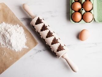 Wałek dekoracyjny do ciasta anapol ruchomy, dekoracja choinki