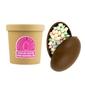 Czekoladowa bomba mleczna z piankami marshmallow - gorąca czekolada z kubkiem prezent na wielkanoc