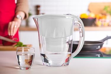 Dzbanek filtrujący wodę z wkładem aquaphor jasper b100-25 maxfor szary 2,8 l