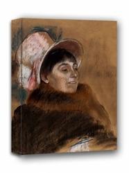Madame dietz monnin, edgar degas - obraz na płótnie