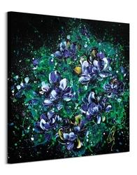 Purple hearts - obraz na płótnie