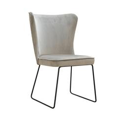 Nowoczesne krzesło tapicerowane ponte u na metalowych nogach